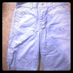 Vineyard Vines boys' shorts w lax sticks sz 14